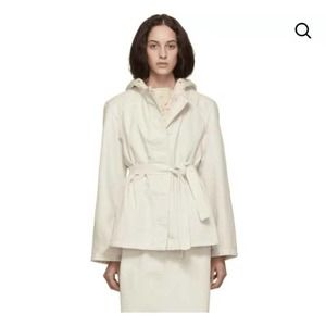 NEW lemaire white cotton belted jacket size m